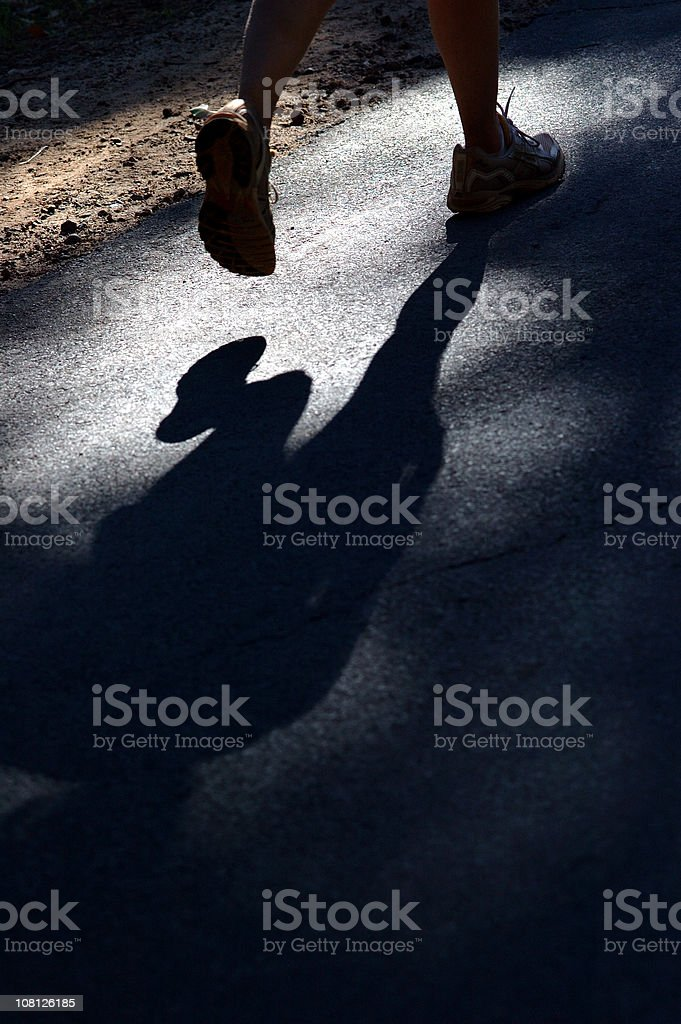 Runners feet royalty-free stock photo