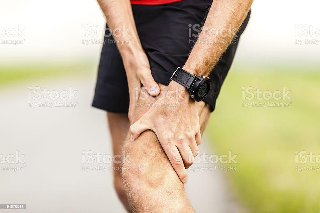 Läufer Bein und Knie Schmerzen, Verletzungen – Foto