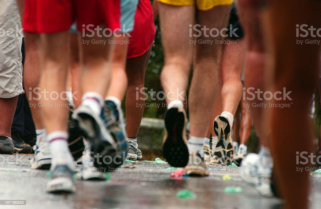 Runners legs and feet stock photo