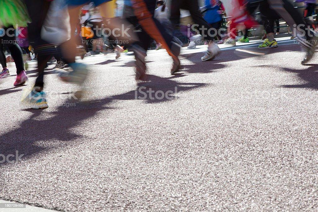 Runners of swinging gait royalty-free stock photo