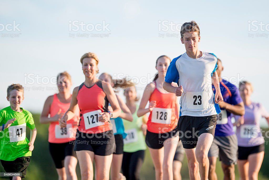 Runners Participating in a Race stock photo
