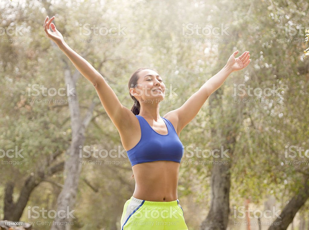 Runners Preparation royalty-free stock photo