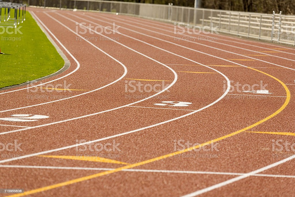 Runner's Race Track royalty-free stock photo