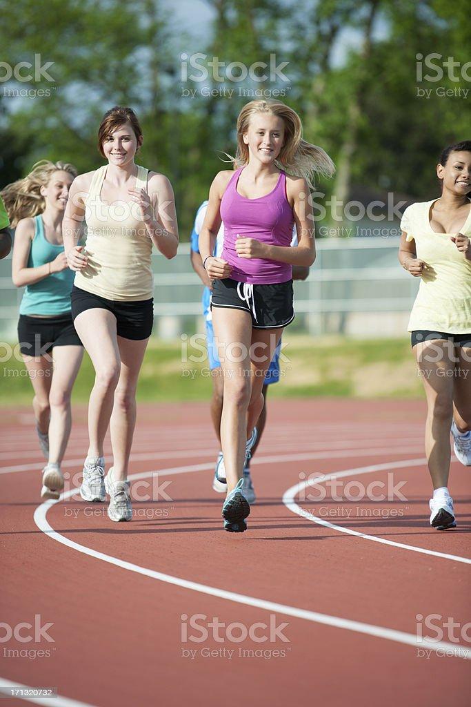 Runners training stock photo
