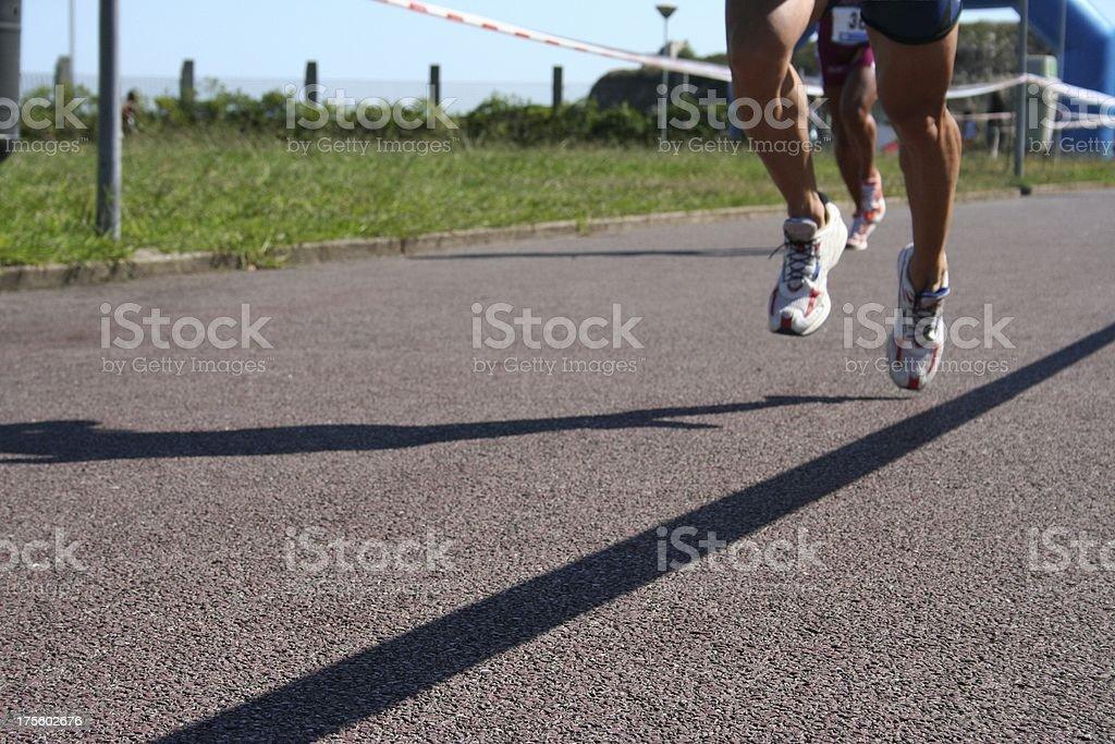 Runners Triathletes royalty-free stock photo