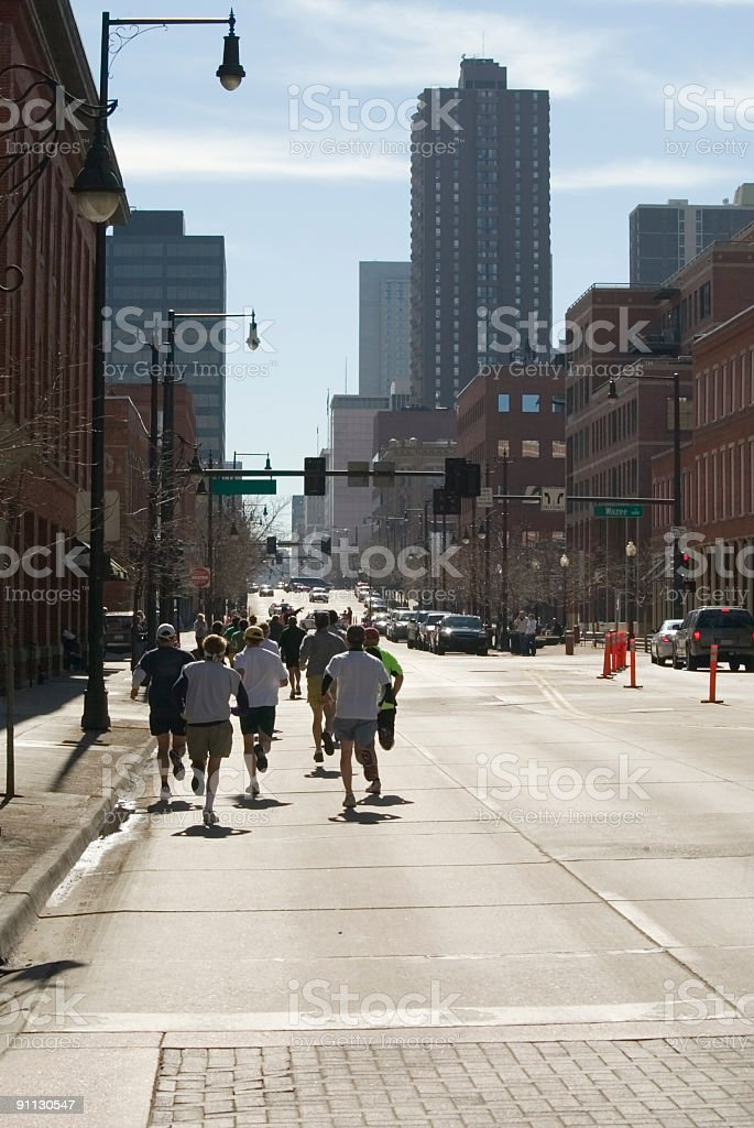 Runnin' of the Green Denver Colorado royalty-free stock photo
