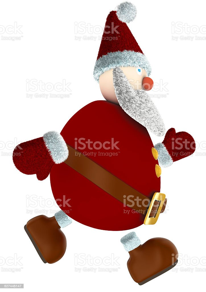 running 3D Santa Claus royalty-free stock photo