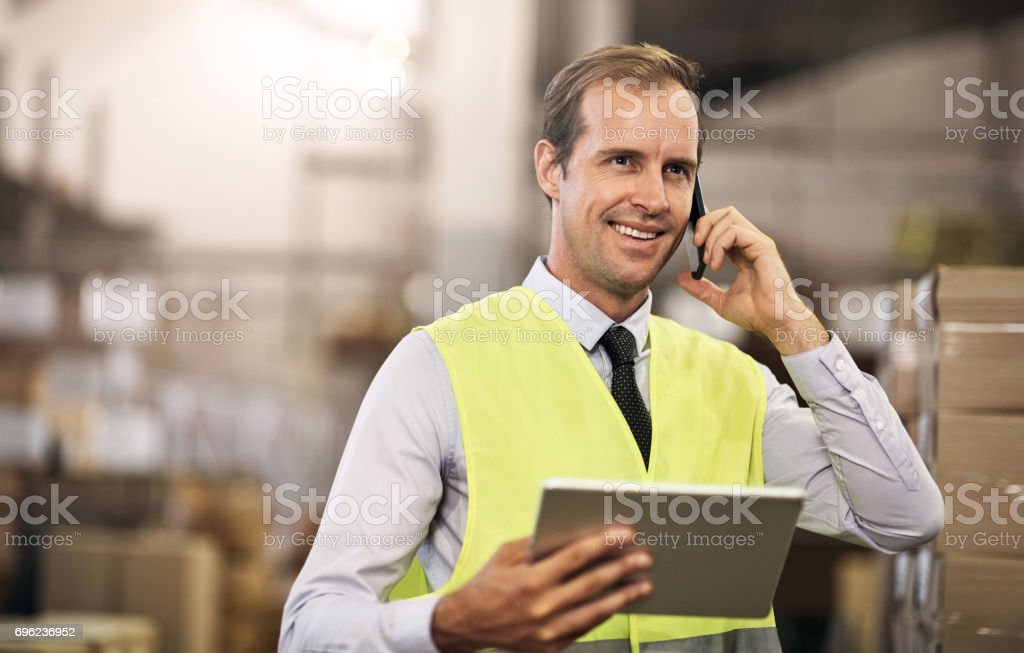 Running a big industry filled with great potential stock photo