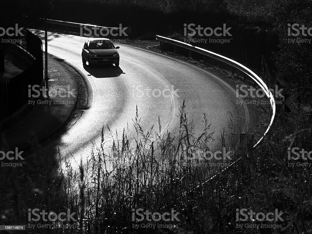 Running a curve royalty-free stock photo
