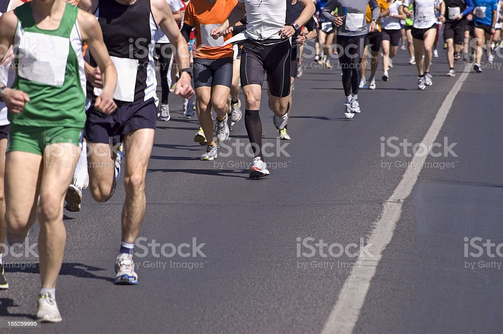 Running a Marathon royalty-free stock photo