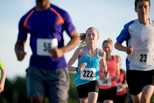 istock Running a Race Outside on a Sunny Day 541567724