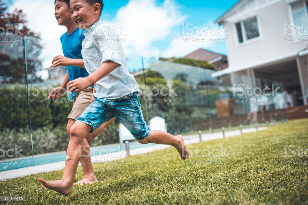 Laufen und Spaß haben – Foto