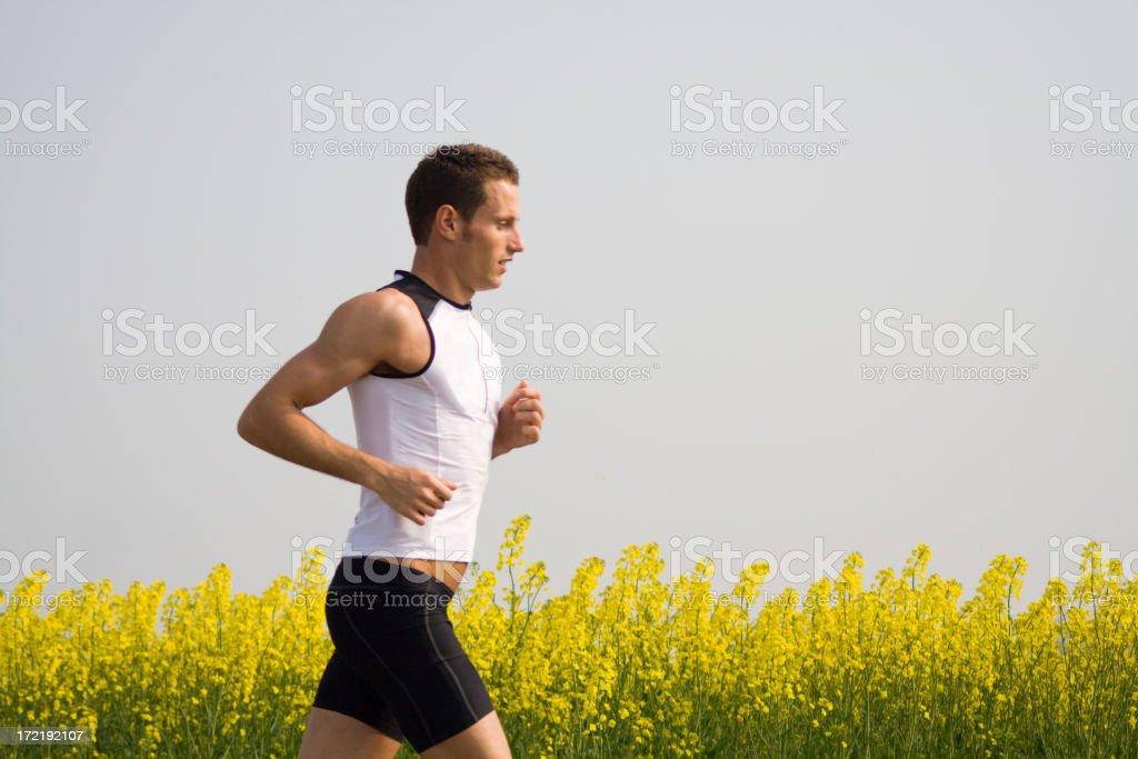 Running athlete stock photo