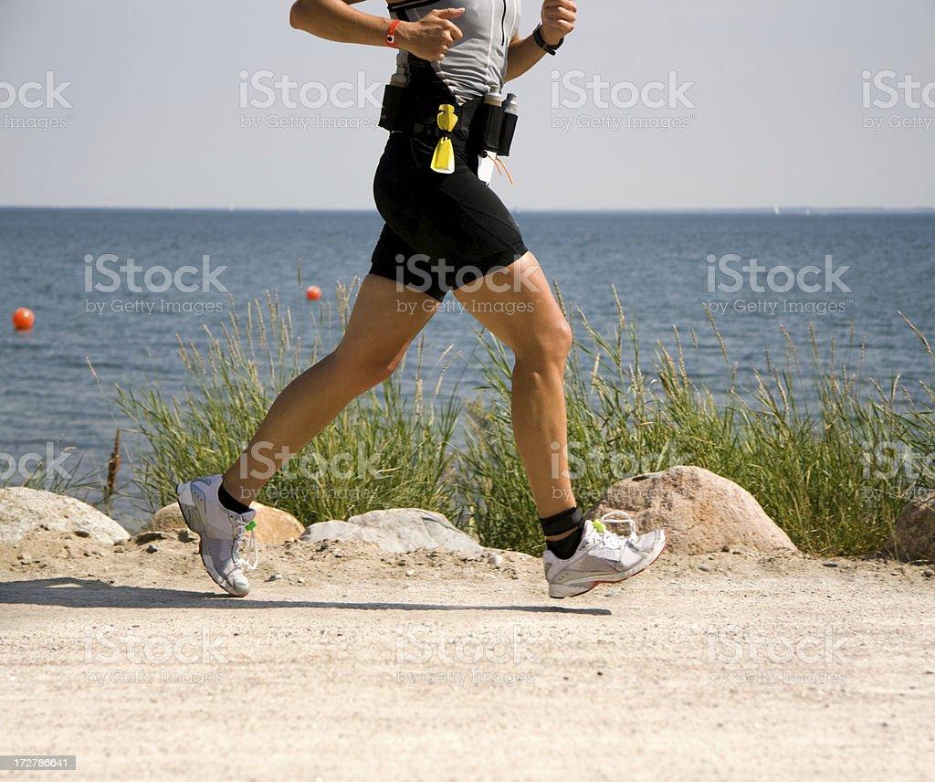 Running athlete royalty-free stock photo