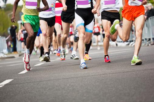 Running Athletes at a Marathon