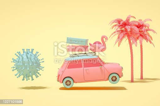 istock Running away from the Virus and Going Summer Holiday 1227101556