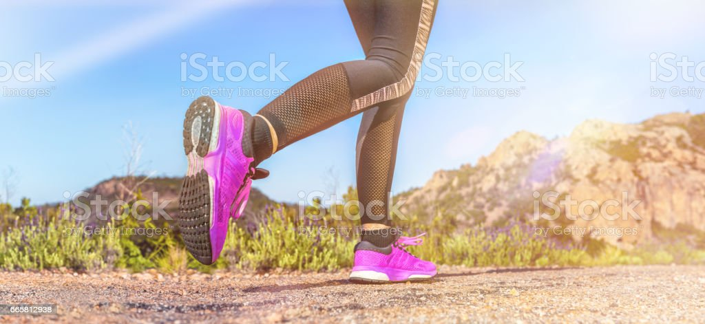 Running & beautiful panorama stock photo