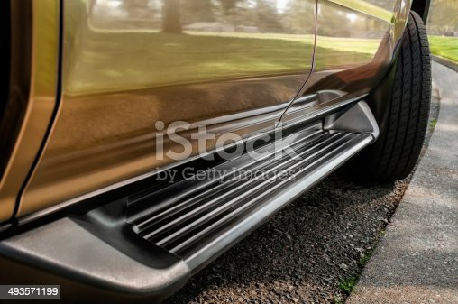 Running Board of Sport Utility Vehicle, close-up
