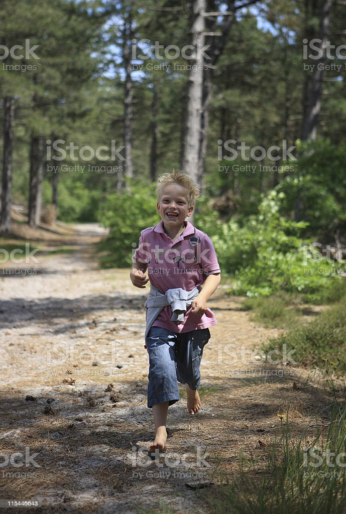 Running Boy stock photo