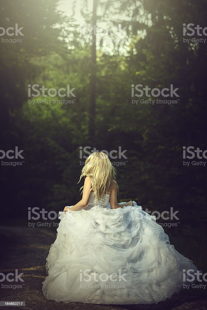 running bride stock photo