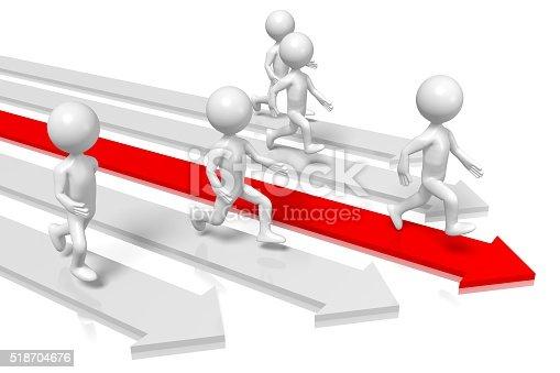 istock 3D running cartoon characters 518704676