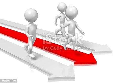 istock 3D running cartoon characters 518704716