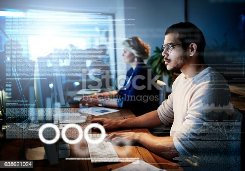 Cropped shot of computer programmers working on new code