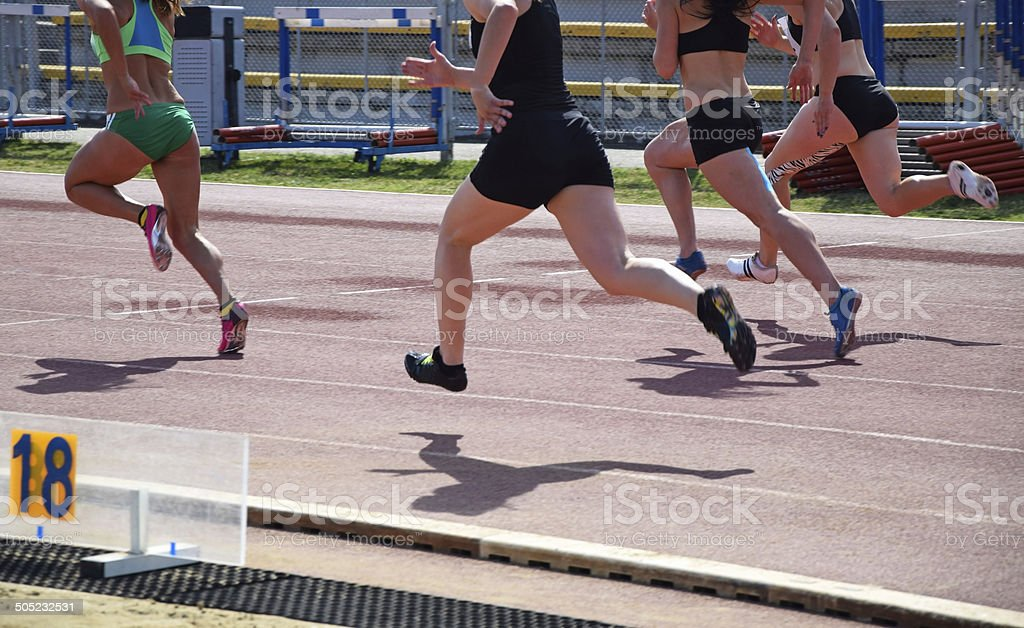 Running contest stock photo