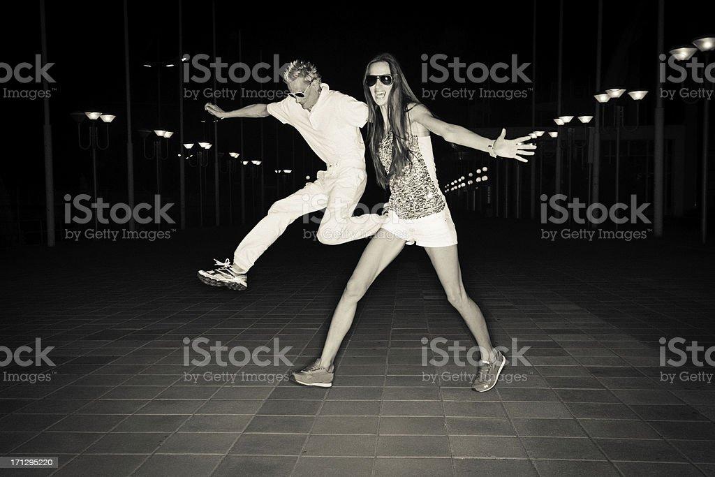 Running Couple stock photo