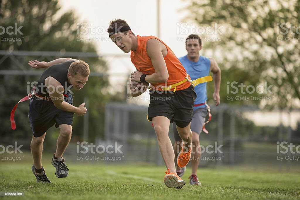 Running Down The Field royalty-free stock photo