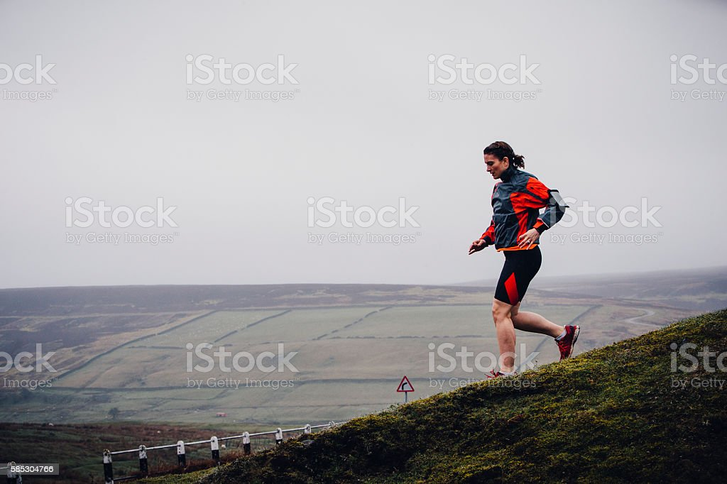 Running Downhill stock photo