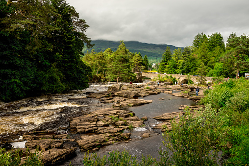 istock Running falls of Dochart in a small town of Killin in central Scotland 855648168
