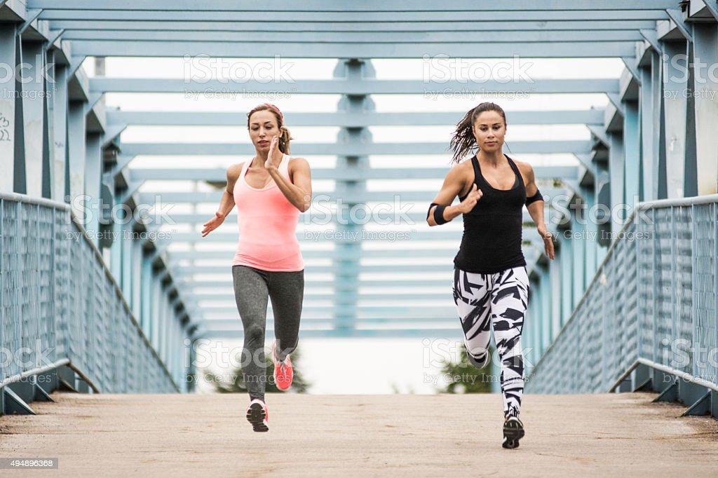 Running fast stock photo