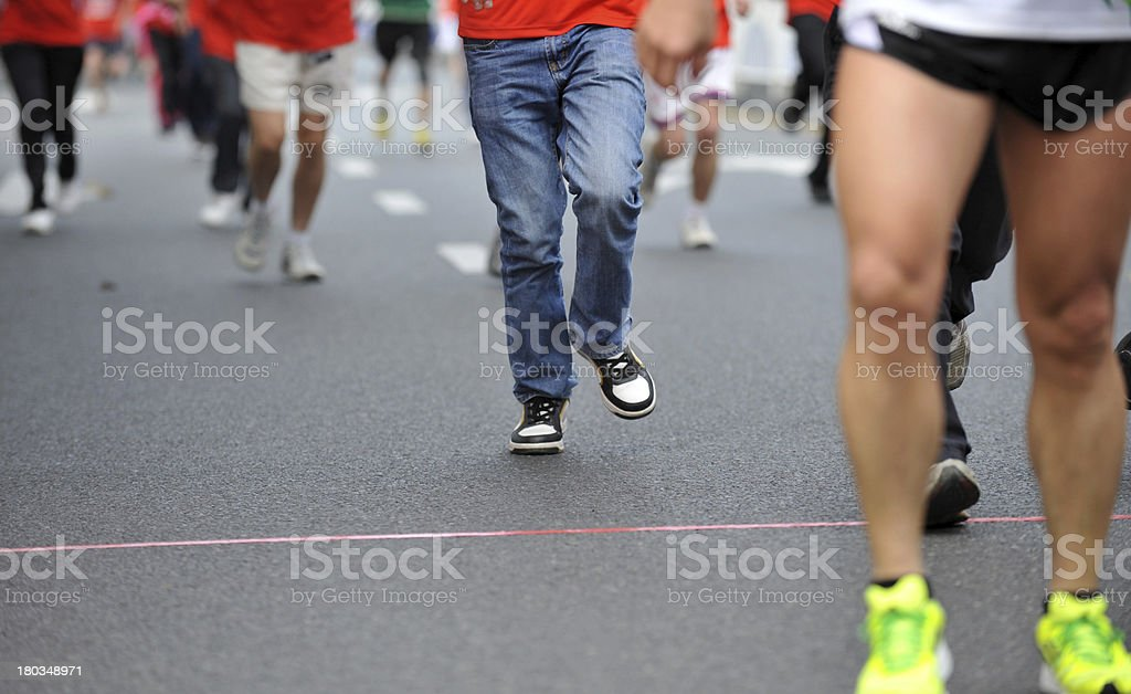 running feet royalty-free stock photo