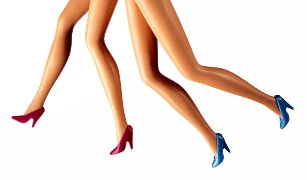 running weibliche mode puppe beine - modepuppen stock-fotos und bilder