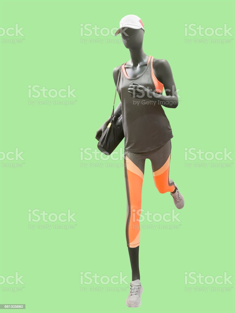 Running female mannequin. royalty-free stock photo