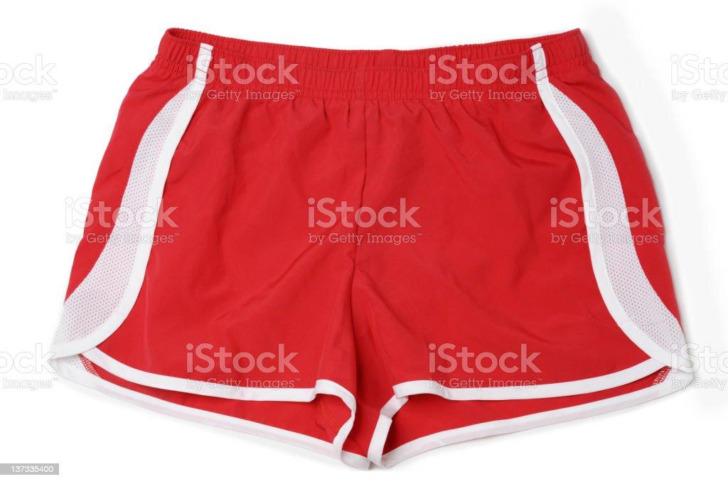 Running Fitness Athletic Wear Shorts Isolated on White Background stock photo