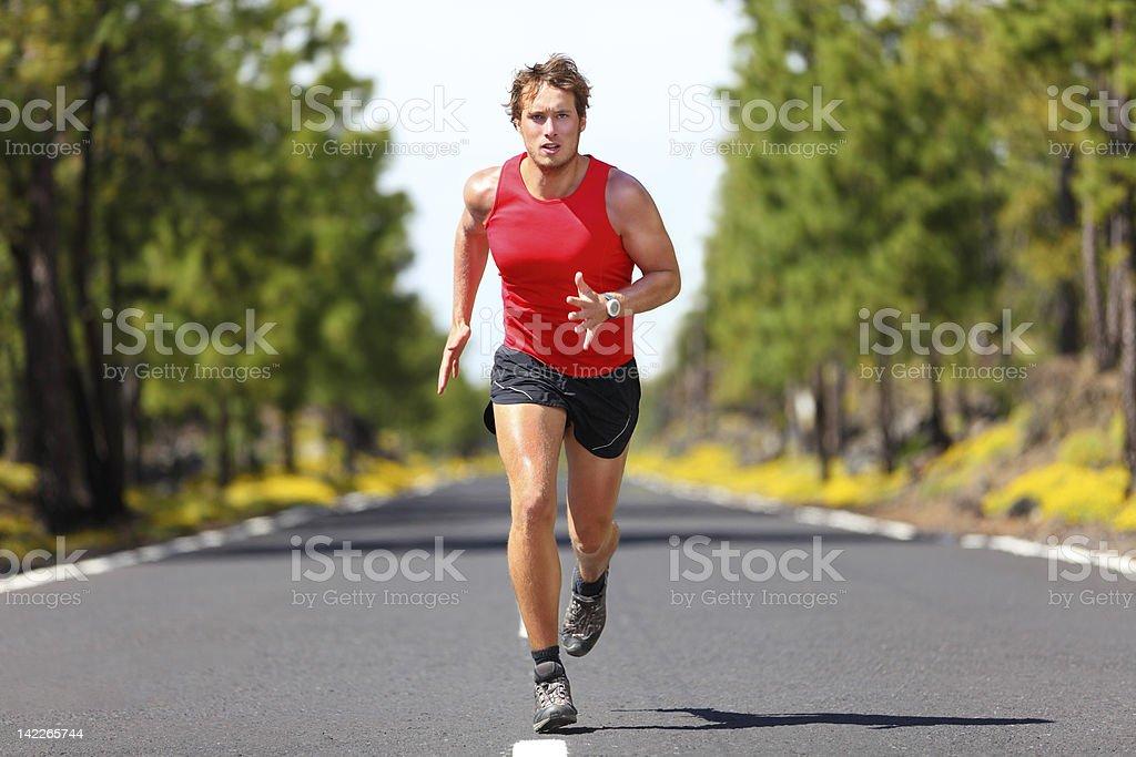 Running fitness sport man stock photo