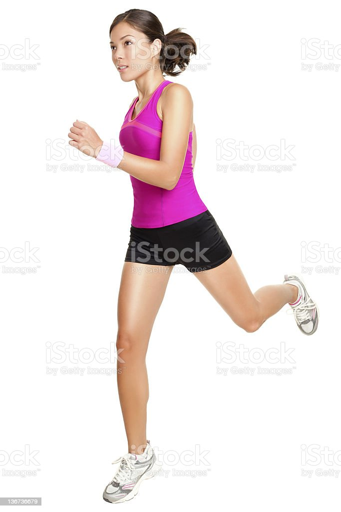 Running fitness woman isolated stock photo