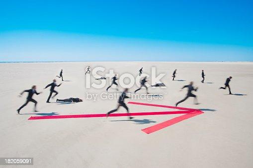 istock Running for success 182059091