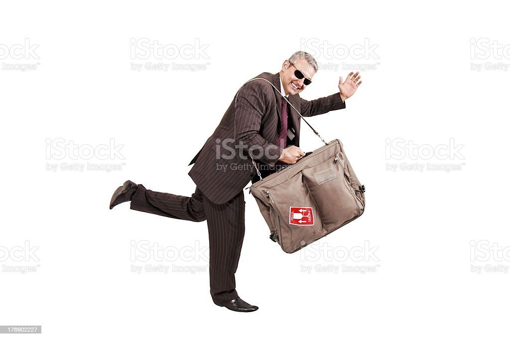 Running for trip royalty-free stock photo