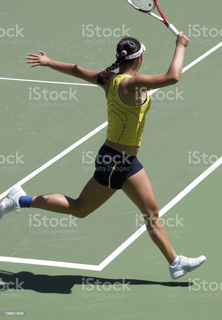 Running Forehand royalty-free stock photo