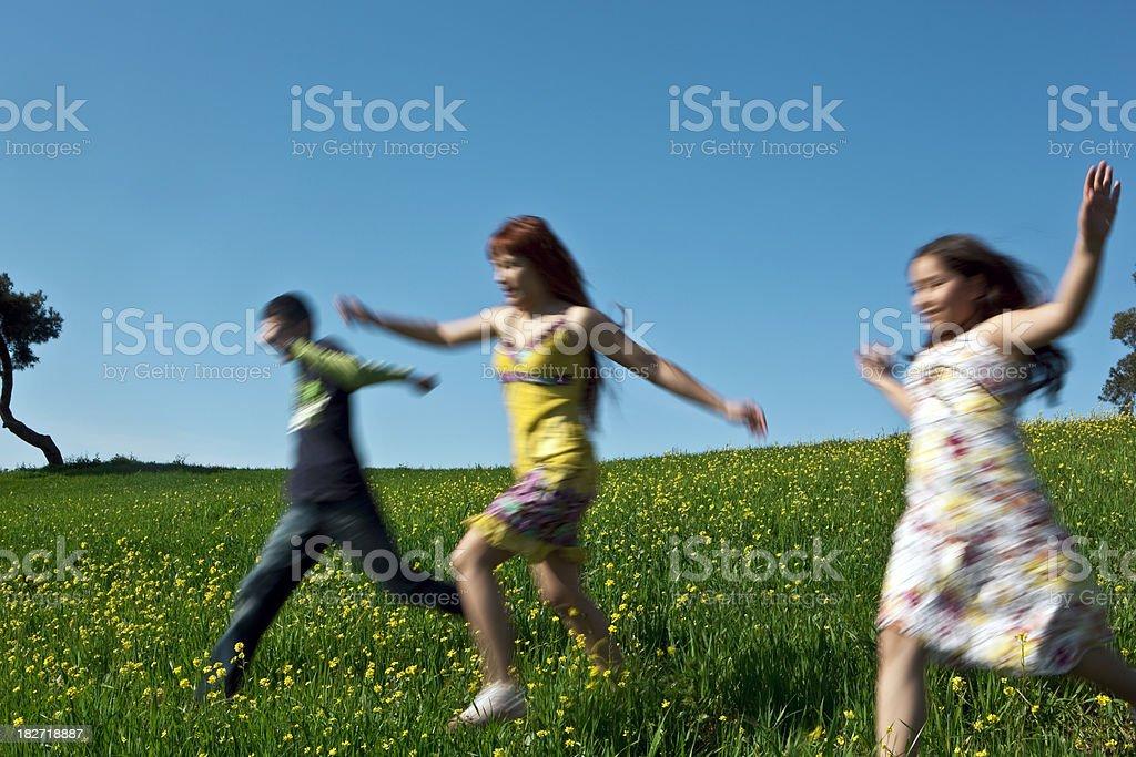 Running freedom stock photo