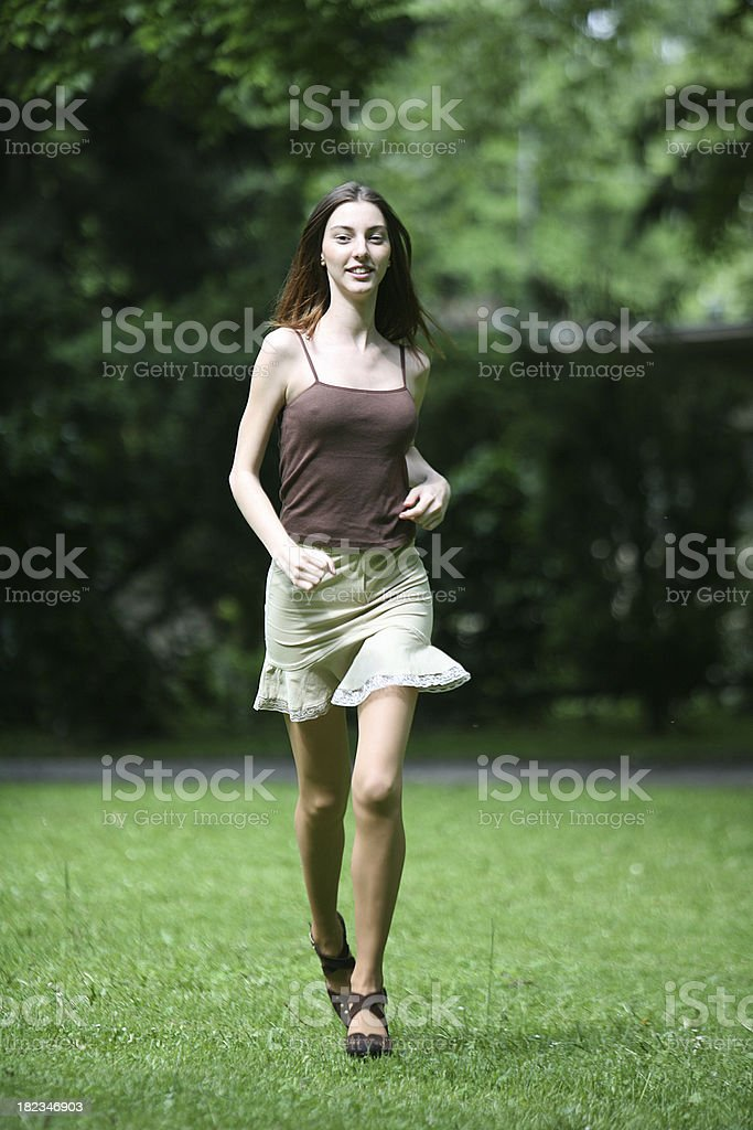 Running girl royalty-free stock photo