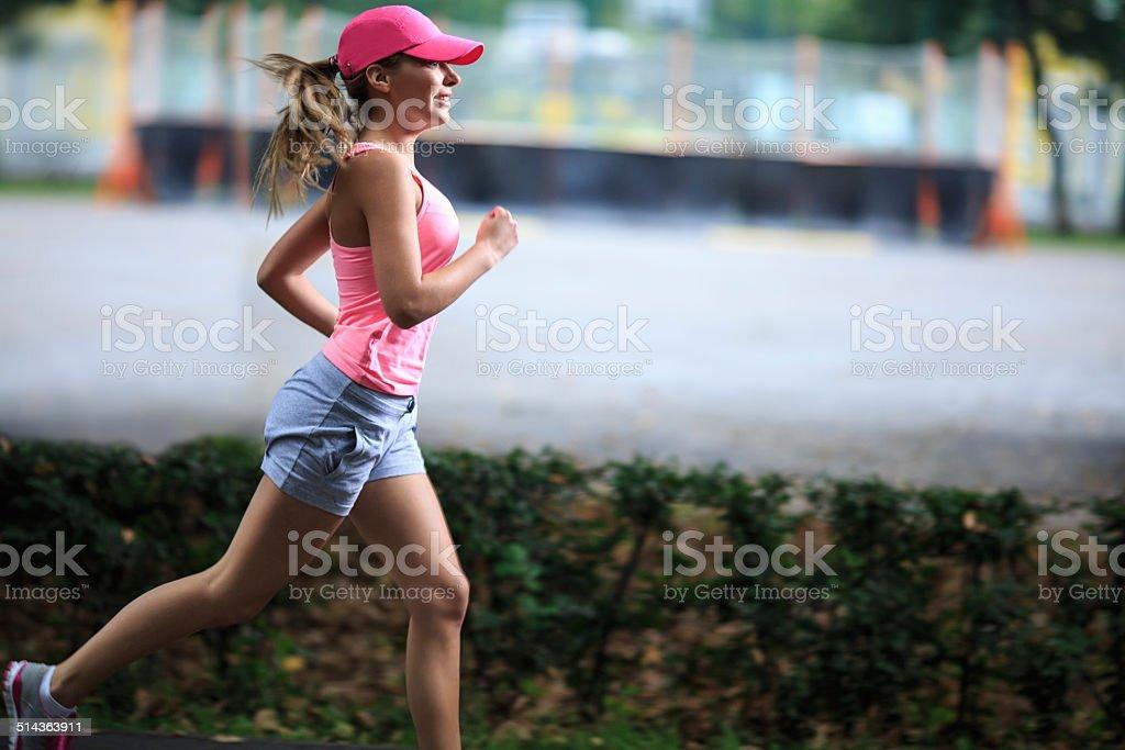 Running Mädchen – Foto