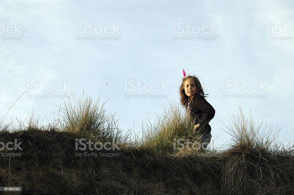 Running happy royalty-free stock photo