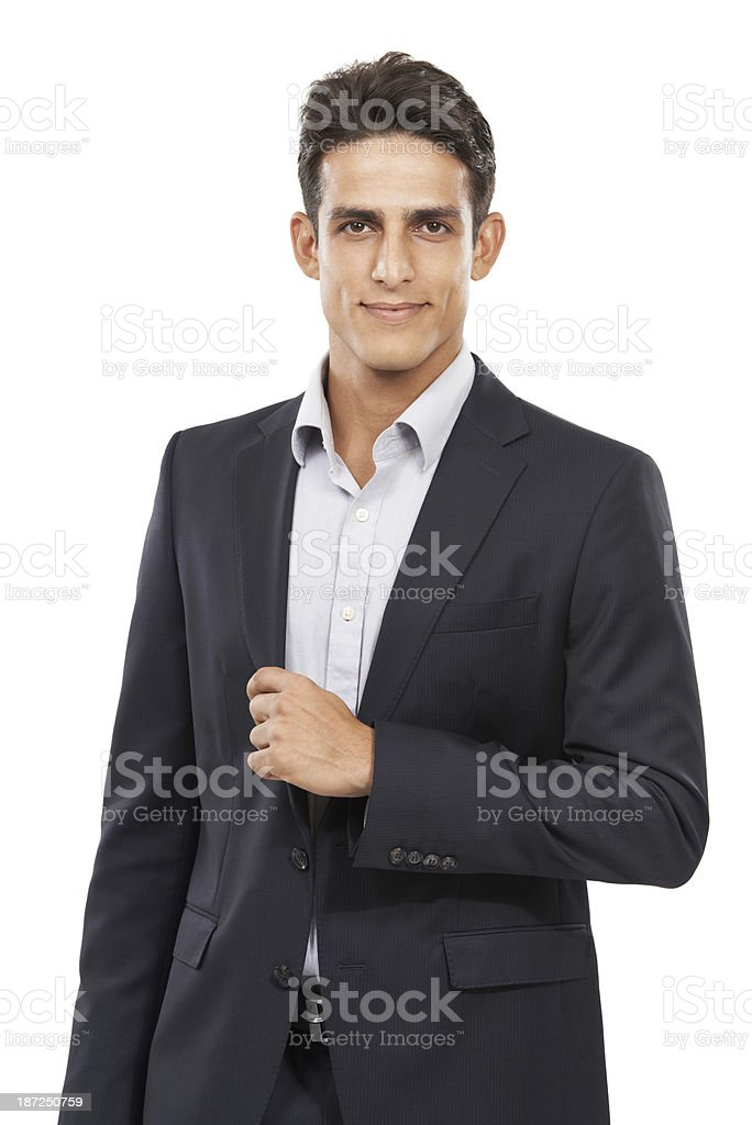 Running his business with style and sophistication royalty-free stock photo