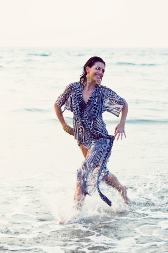 Running In A Ocean Stock Photo - Download Image Now