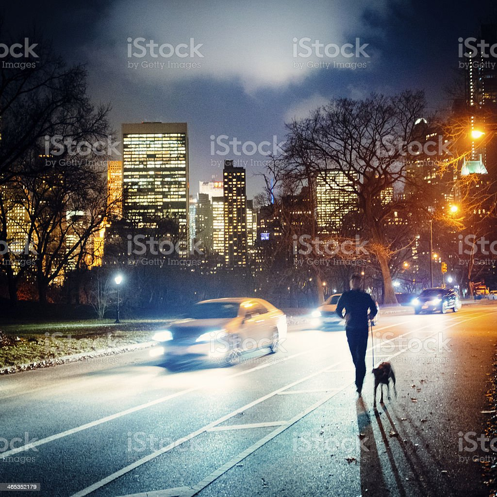 Running in Central Park New York royalty-free stock photo