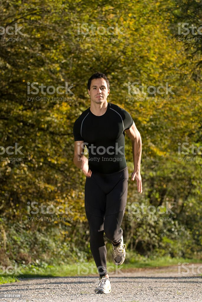 running in nature royalty-free stock photo